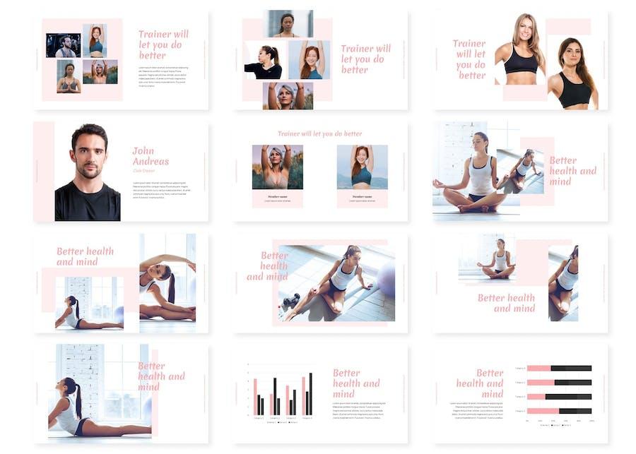 Yooga Powerpoint Templates - 1