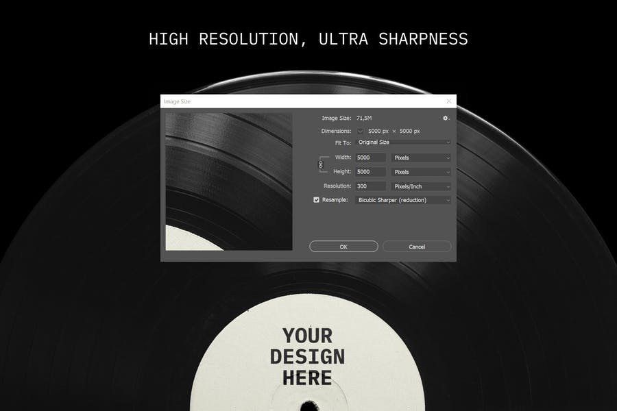 Vinyl Record Mockup - 0
