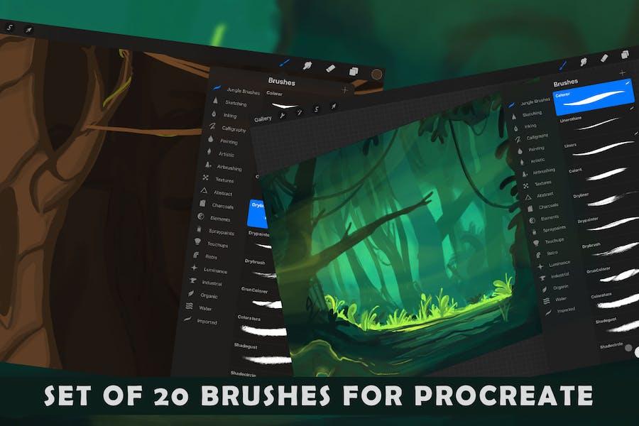 The Jungle: Procreate Brushes - 3