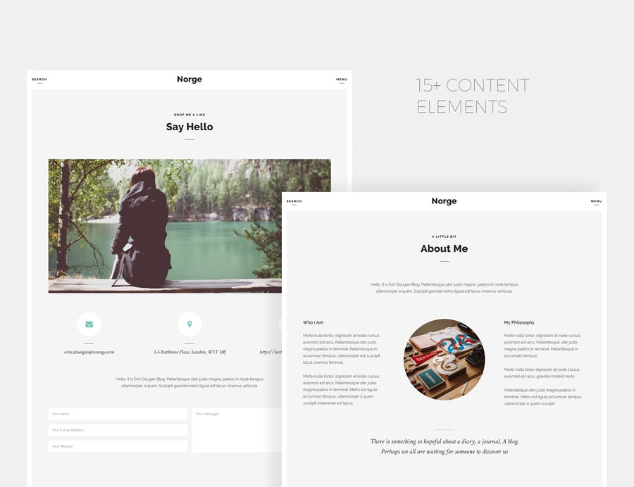 Norge - Responsive Blog WordPress Theme - 1