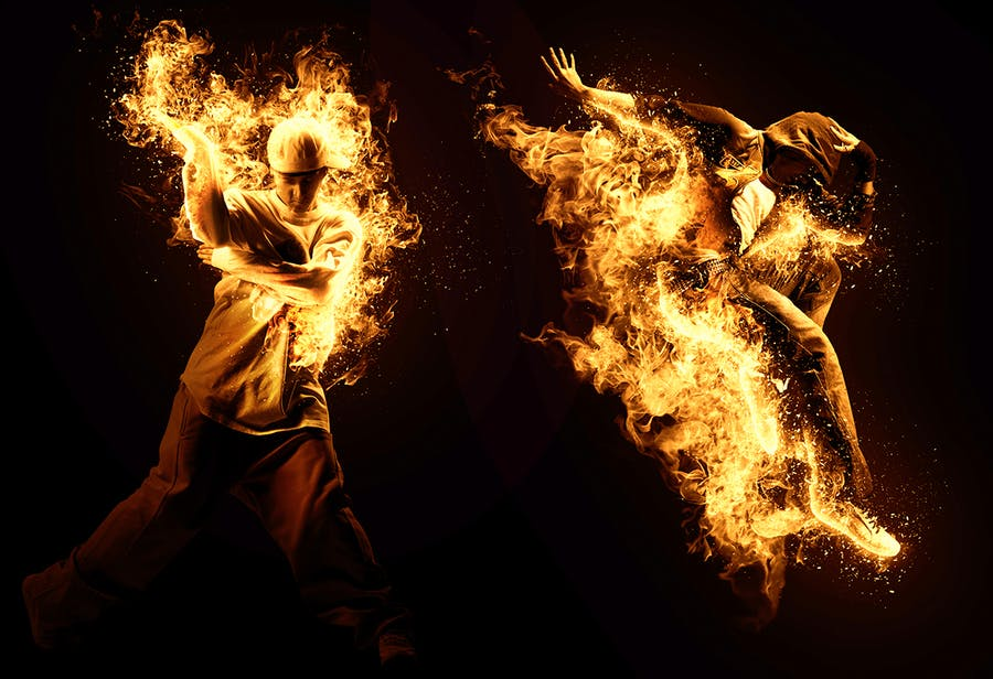 Fire Animation Photoshop Action version 2 - 0