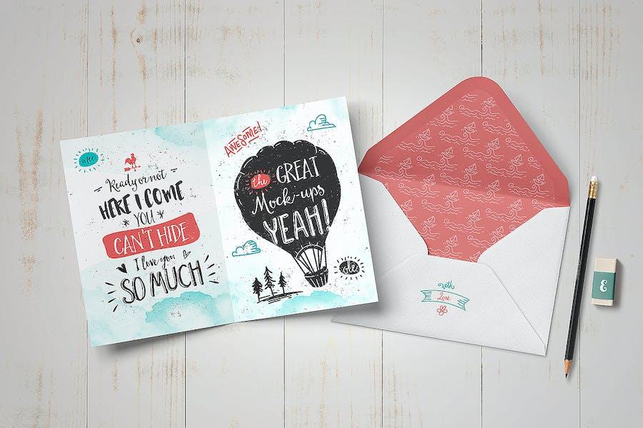 Invitation / Greeting Card Mock-Up - 0