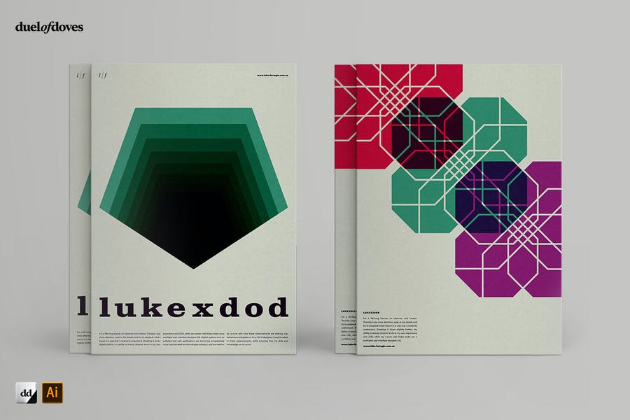 Typographic resume posters - vol. 2 - 2