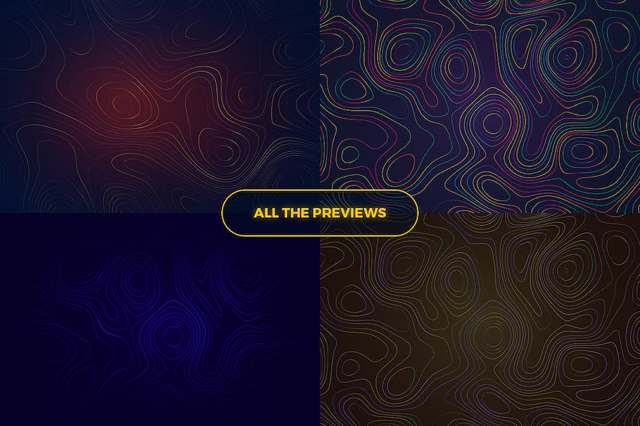 Topographic Styled Colorful Lines Background - 1