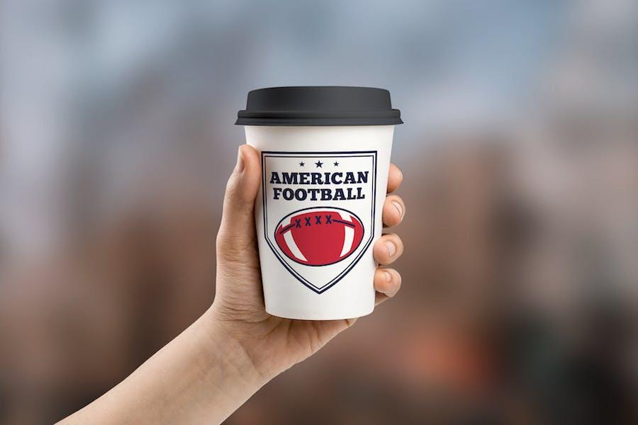 Vintage American Football Logos / USA Sports Badge - 1