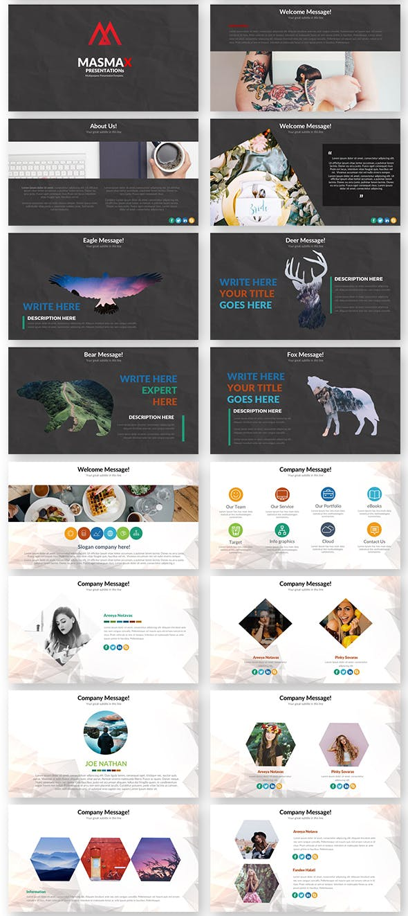 Masmax Powerpoint Template - 3