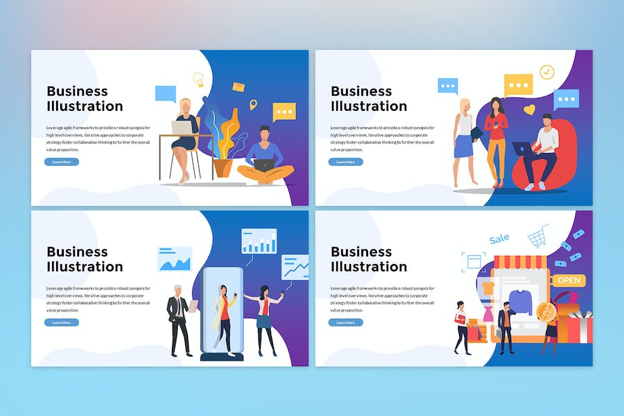 Business Illustration Presentation - 3
