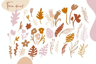 Abstract flower set SVG - 2
