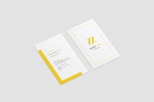 Portrait Business Card Mockup - 3