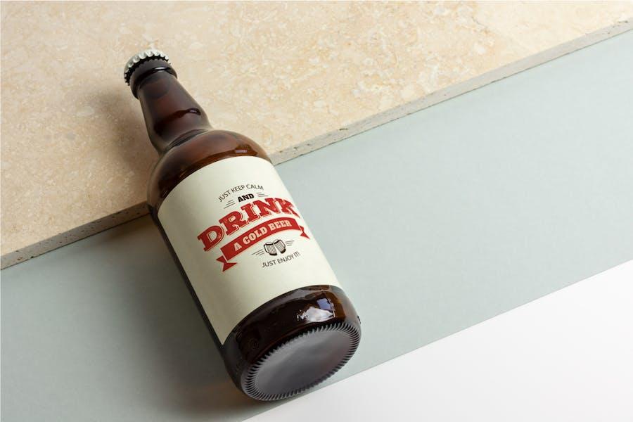 Beer Bottle Mock-up / Real Photo Scene - 1