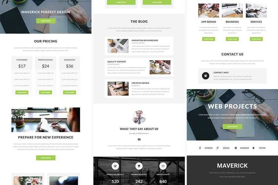 Maverick - Responsive Email + StampReady Builder - 1