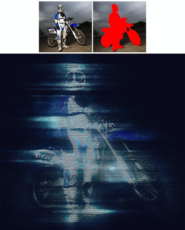 Hologram Photoshop Action - 0