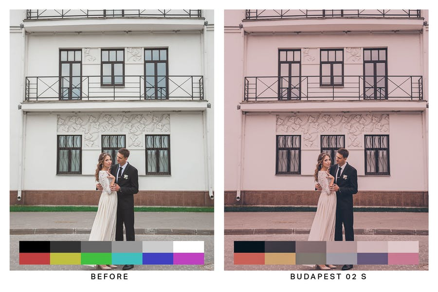 50 Budapest Pink Lightroom Presets and LUTs - 0