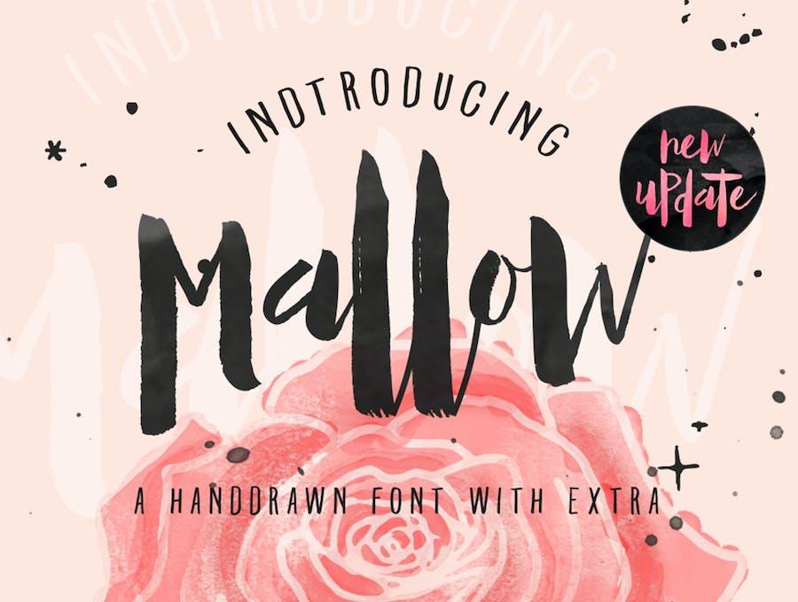 Mallow Typeface & EXTRA Mockup - 0