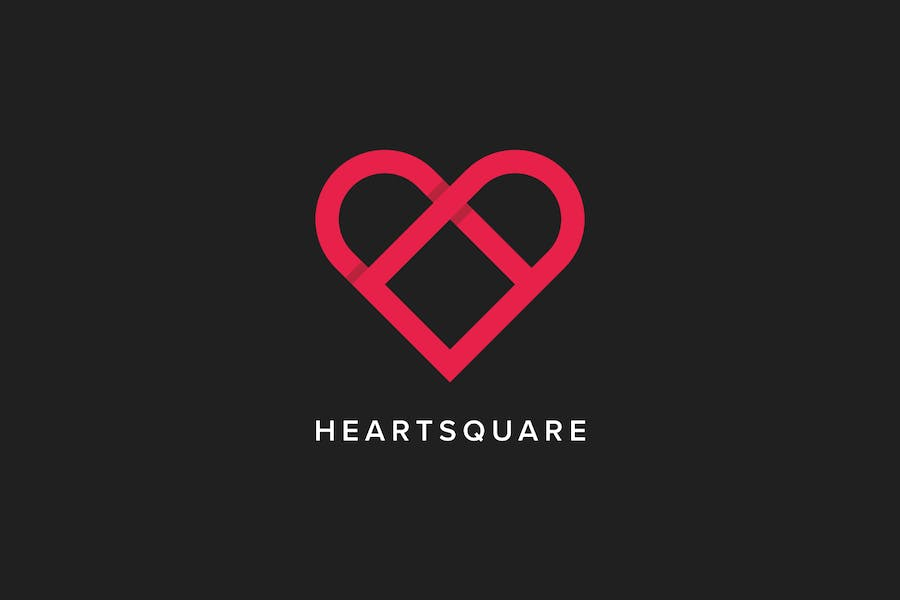 Heart Square Logo Template - 0