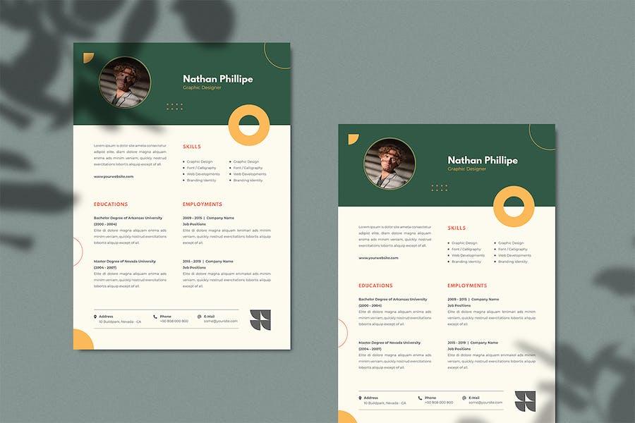 Graphic Designer CV Resume - 0