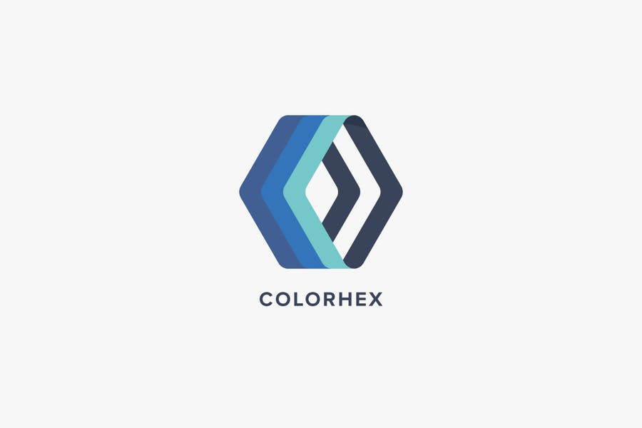 Color Hex Logo Template - 1