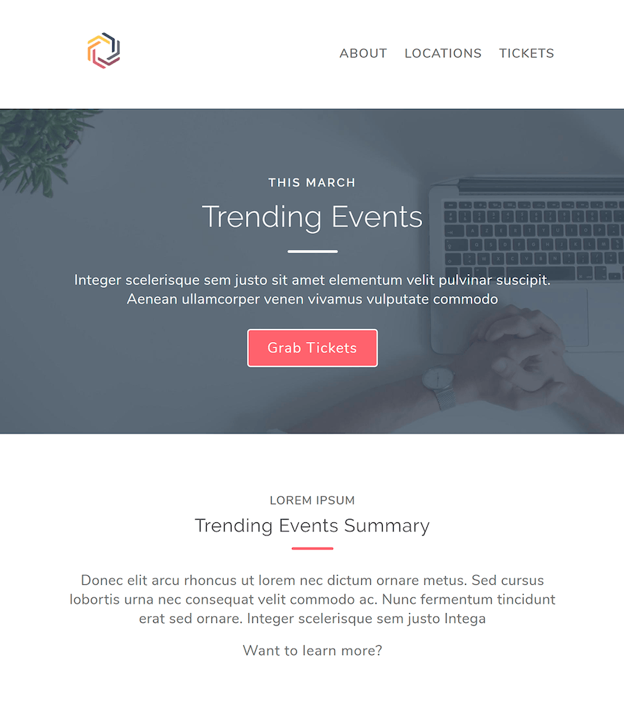 Events Responsive Multipurpose Email Template - 0