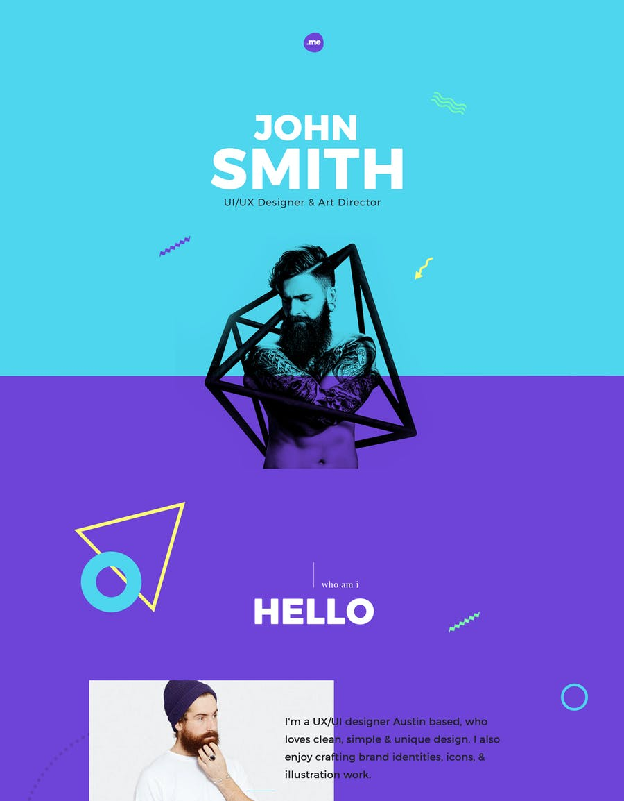 Me - Creative Portfolio & Resume/CV HTML Template - 1