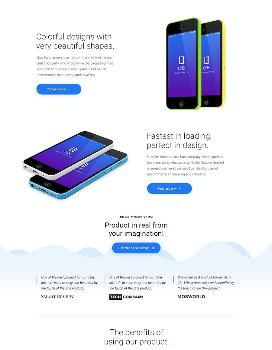 One - HTML Product Landing Page - 1