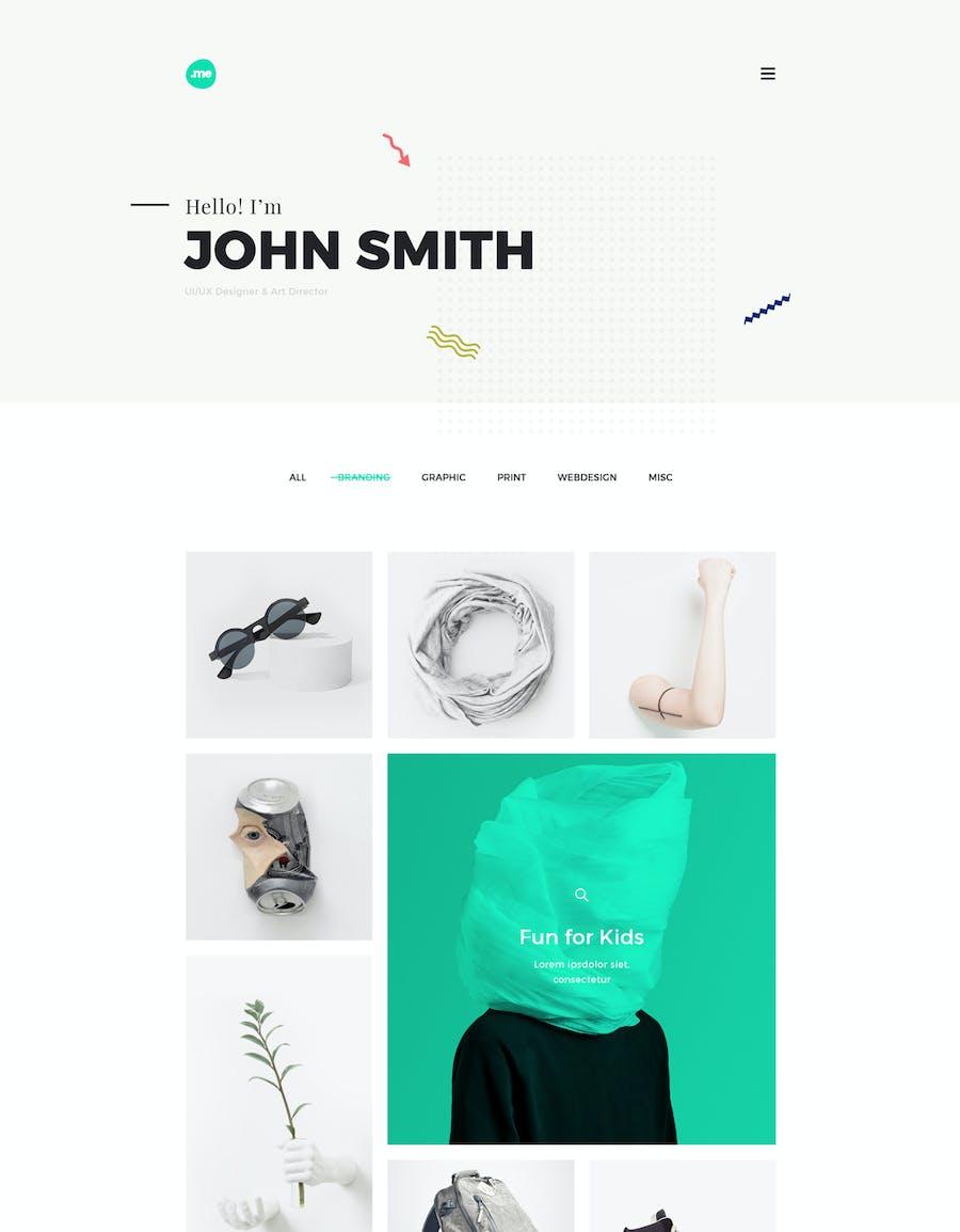 Me - Creative Portfolio & Resume/CV HTML Template - 3