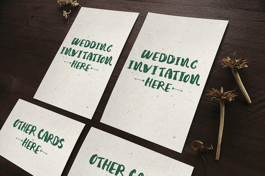 Wedding Invitation Mockups - 0