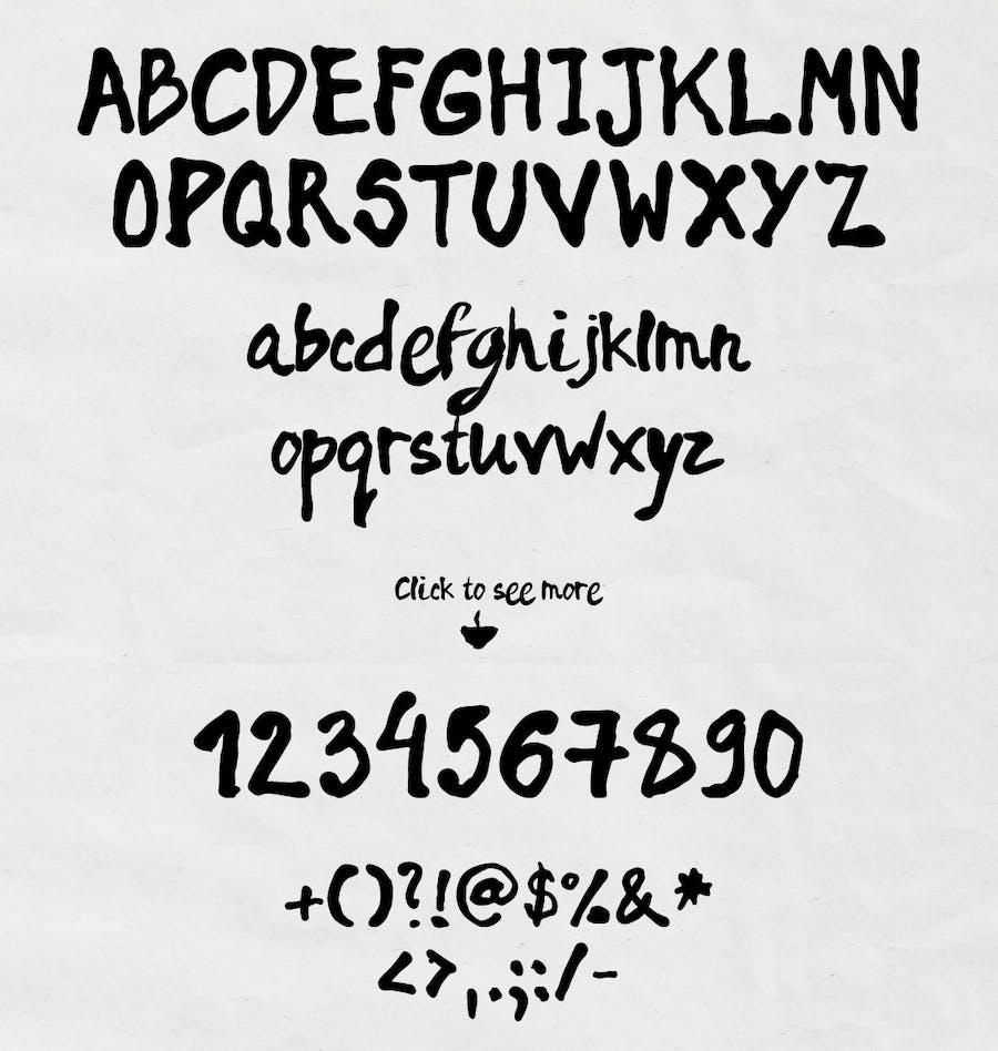 Rainy Days - a Playful typeface - 1