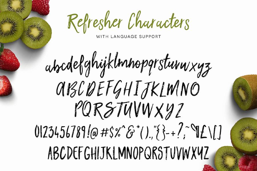 Kiwi Refresher Font Duo - 2