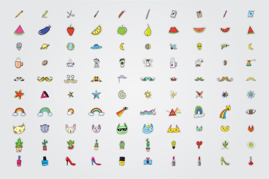 300+ Stickers Vector Set - 2
