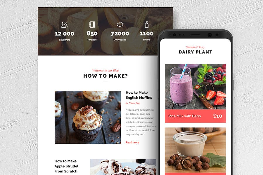 Delicious - Magazine & Shop E-newsletter Template - 0