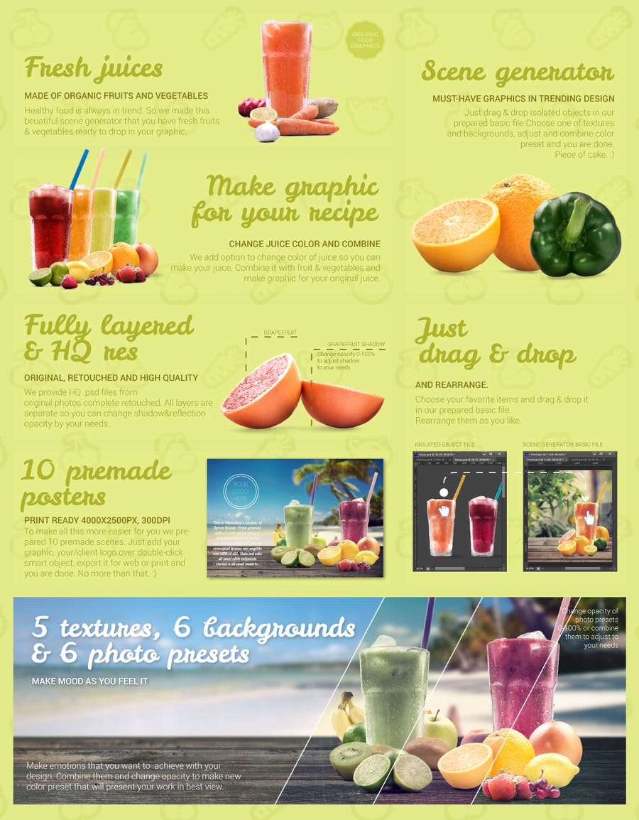 Organic Juice Maker Scene Generator - 0