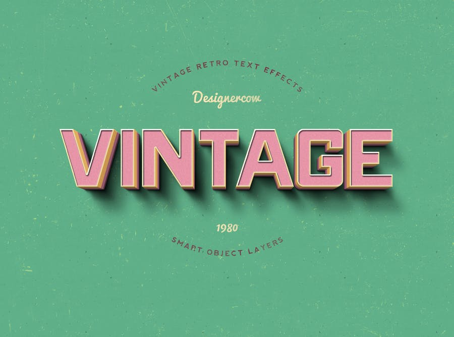 14 Vintage Retro Text Effects - 0