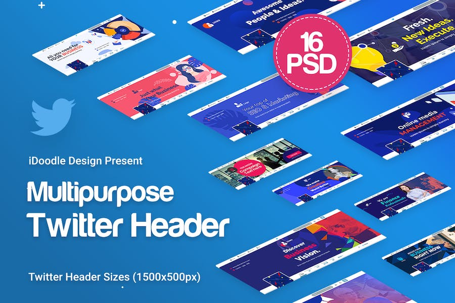 Twitter Headers Multipurpose, Business Ad - 0