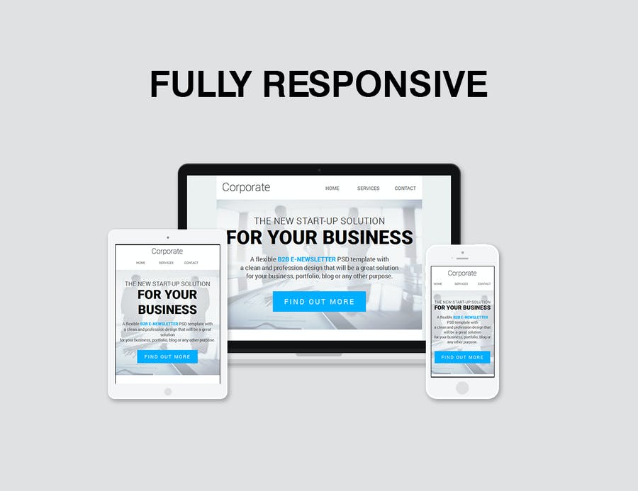 Corporate B2B Newsletter Template - 0