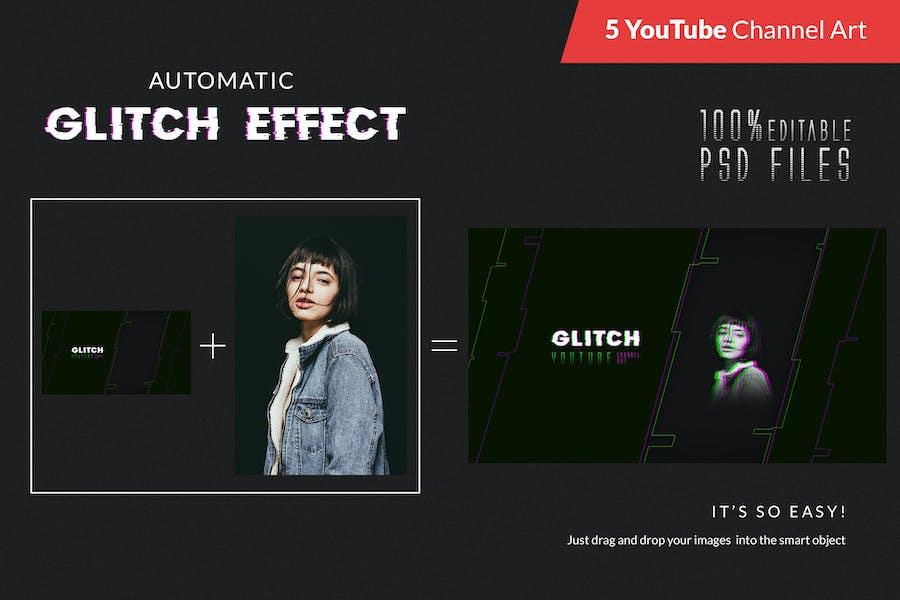 Glitch YouTube Channel Art - 1