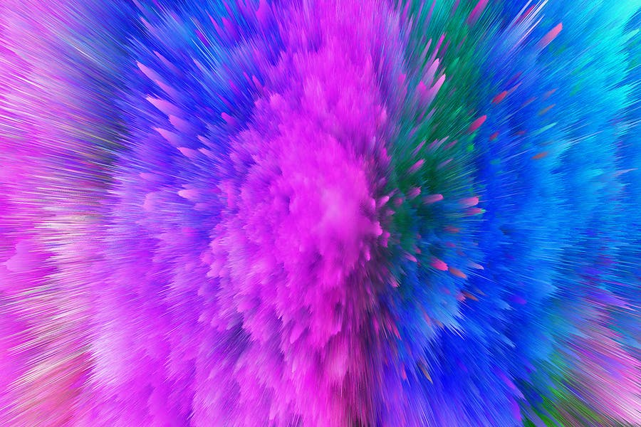 Explosion of Colorful Dust Backgrounds - 1