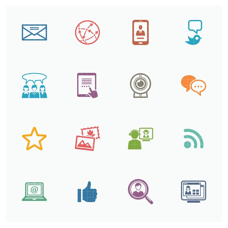 Social Media Icons Set 1 - Colored Series - 0