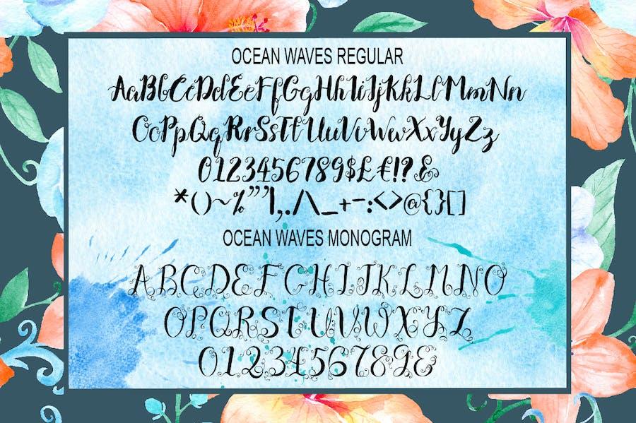 Ocean Waves Brush Font Duo - 0
