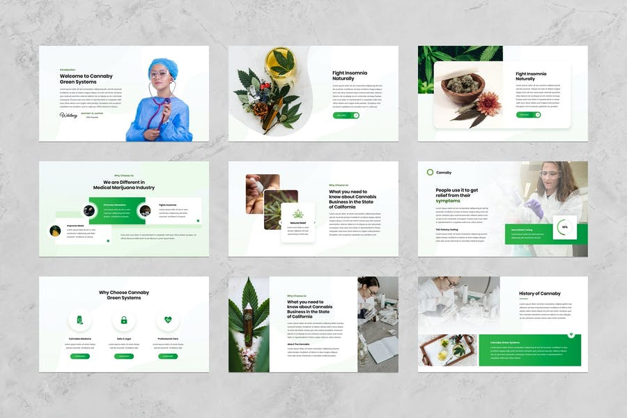 Cannaby - Cannabis Presentation Templates - 1