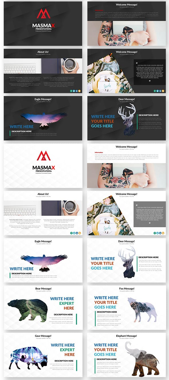 Masmax Powerpoint Template - 2