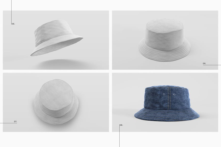 Bucket Hat Mockup Pack - 2