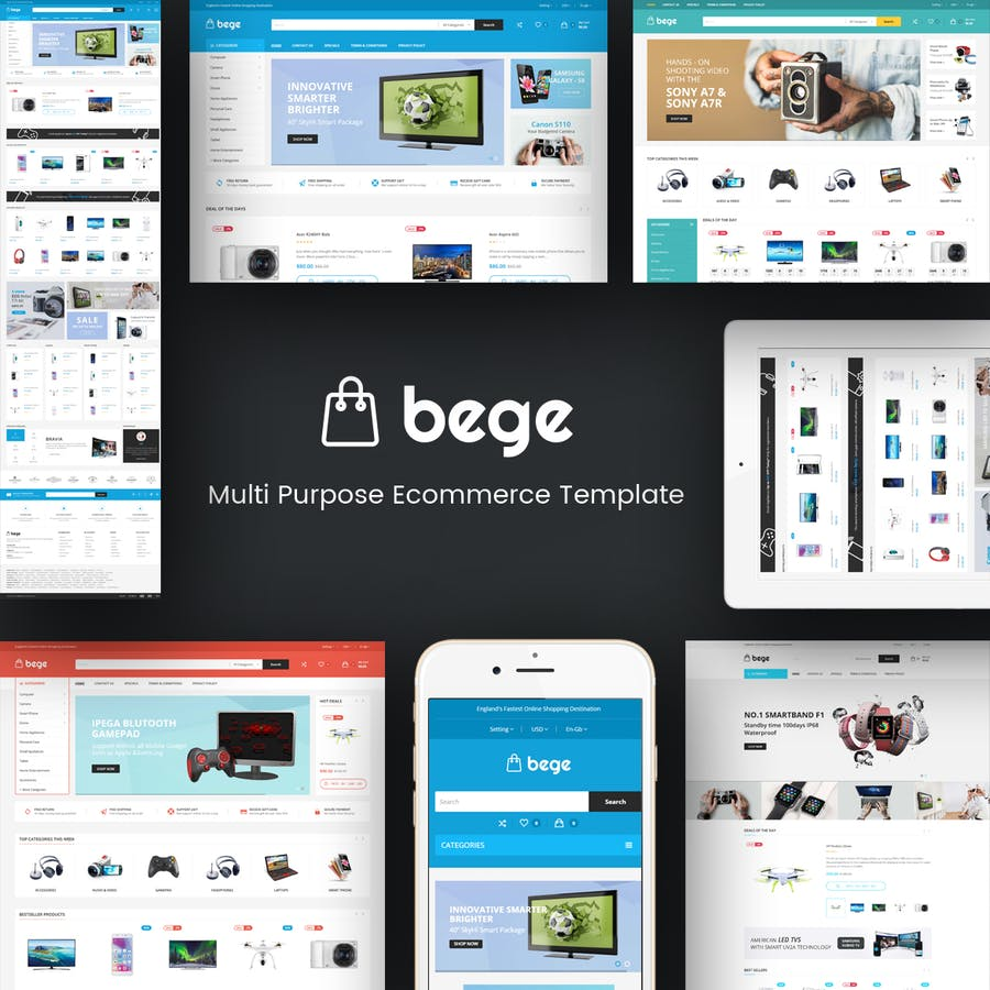Bege - Responsive WooCommerce WordPress Theme - 0