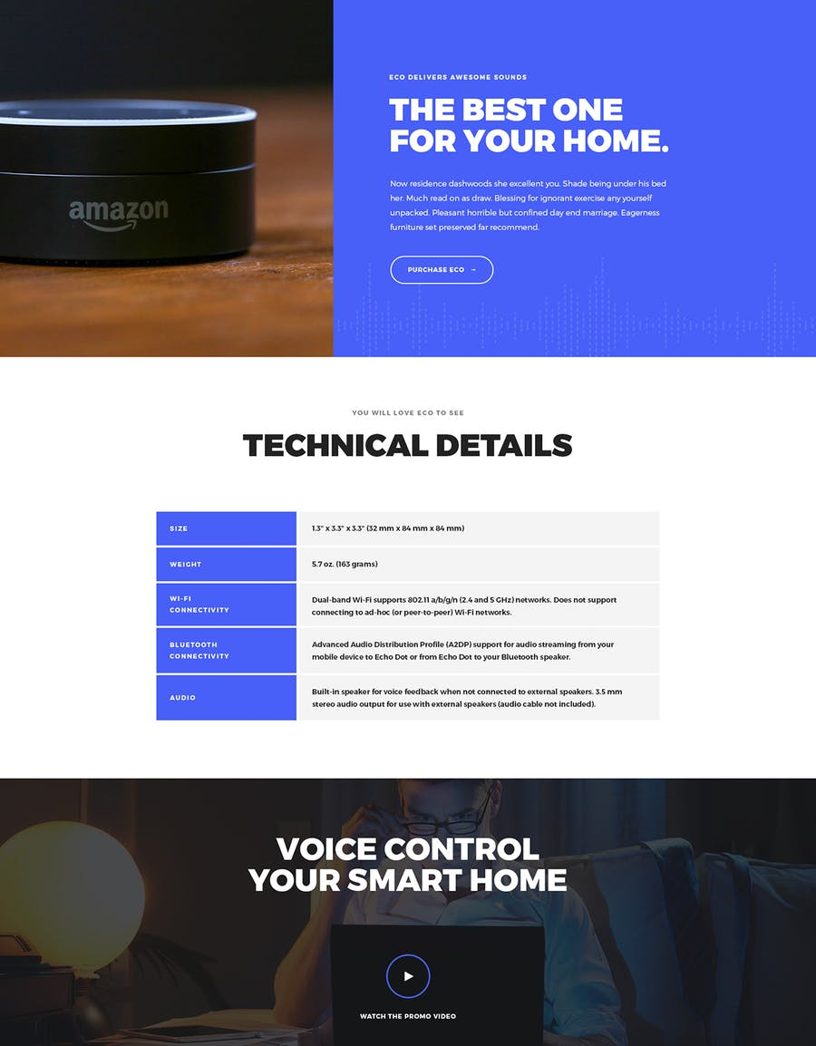 Eco - HTML Product Landing Page - 2