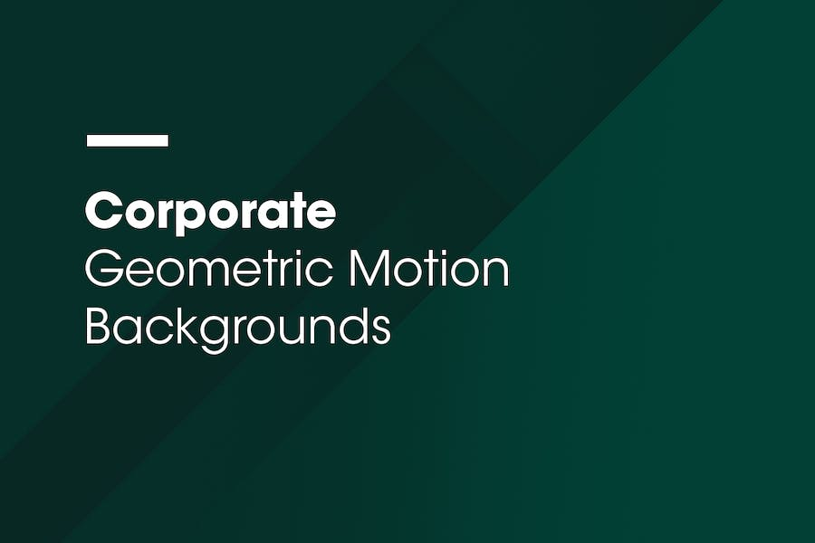 Corporate | Geometric Motion Backgrounds | Vol. 02 - 0