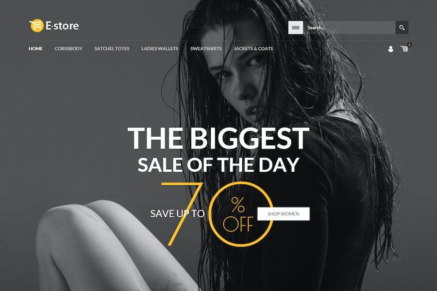 E-Store - Responsive HTML Template - 0
