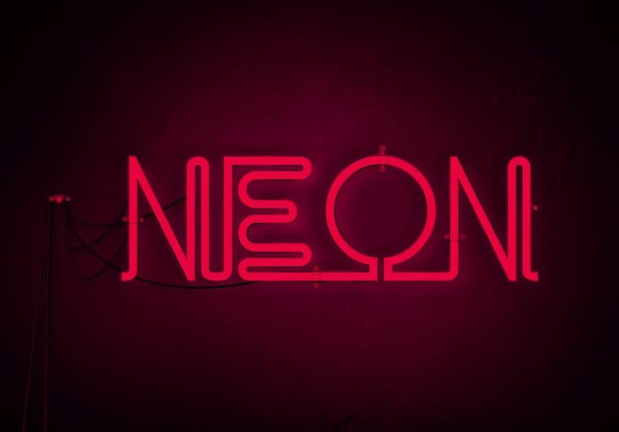 Neon Text - 0