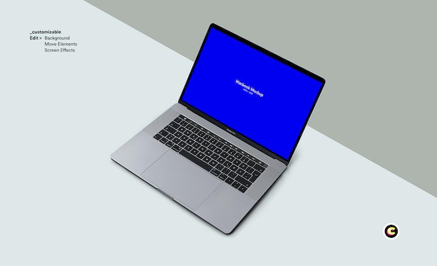 Macbook Laptop Display Web App Mock-Up - 3