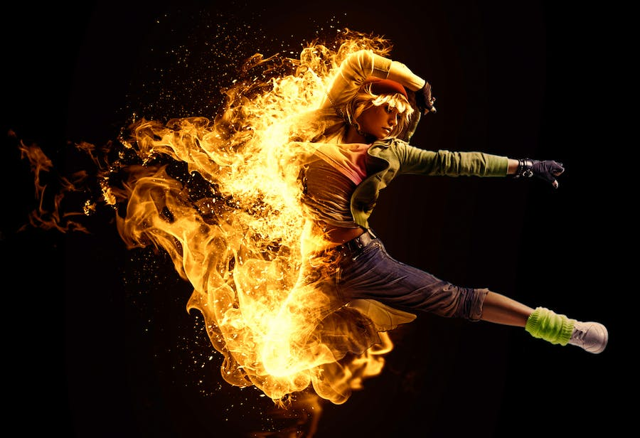 Fire Animation Photoshop Action version 2 - 1
