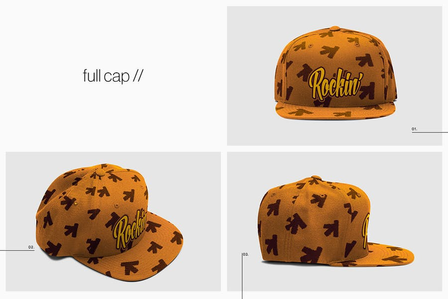 Cap Collection Mockup - 3