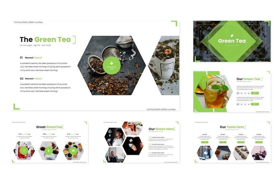 Green Tea - Powerpoint Template - 0